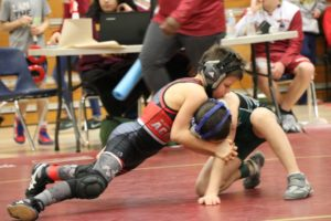 Wrestling match at Brookwood Tournament