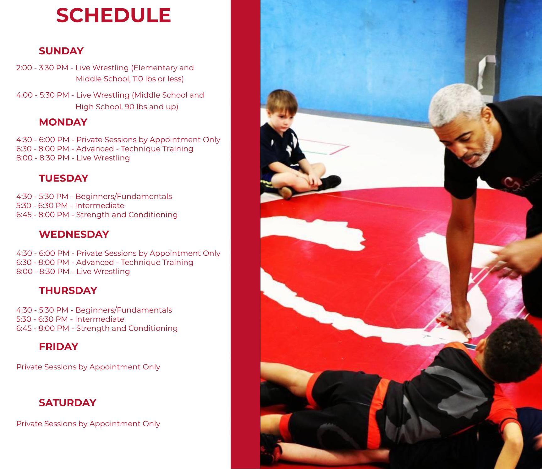 GWA Practice Schedule